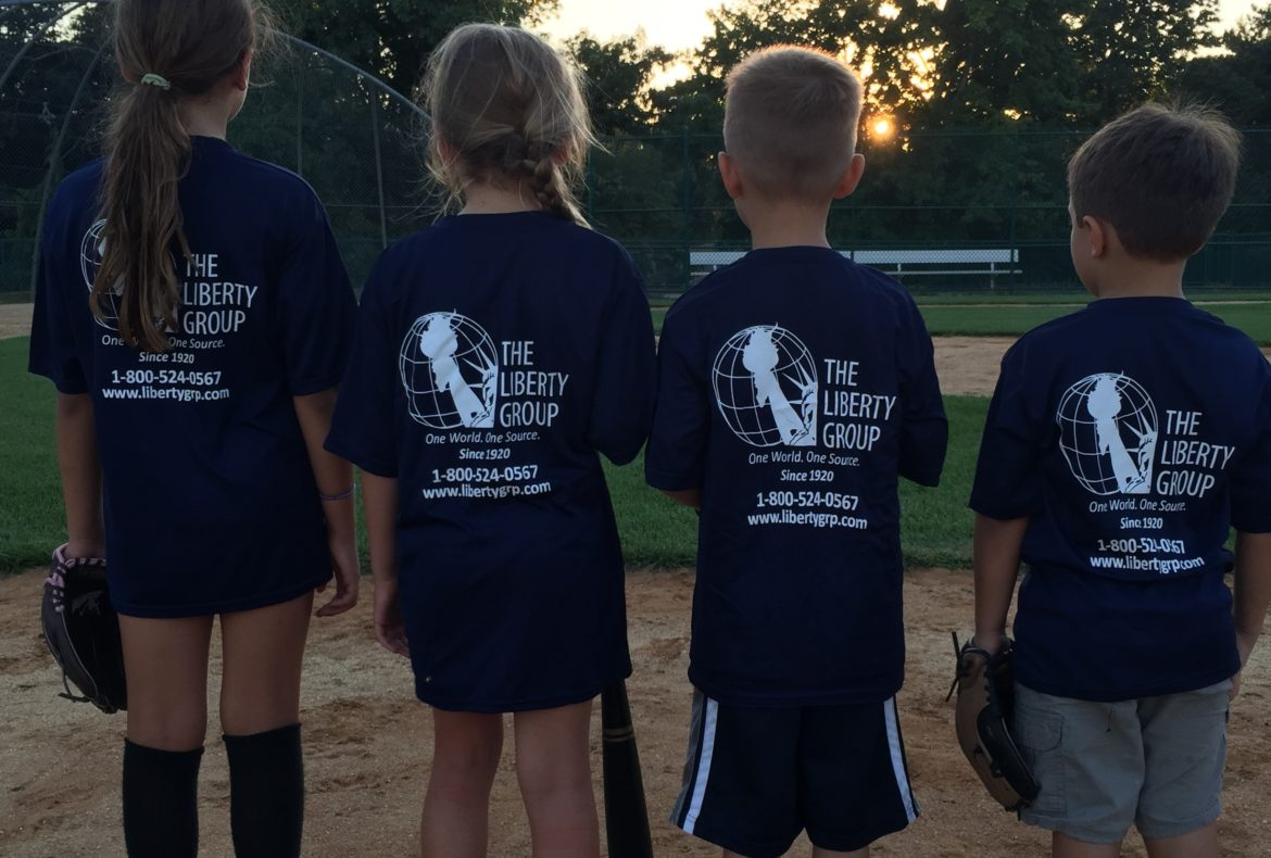 Liberty Group sponsors t-shirts for Berkeley Heights baseball camp